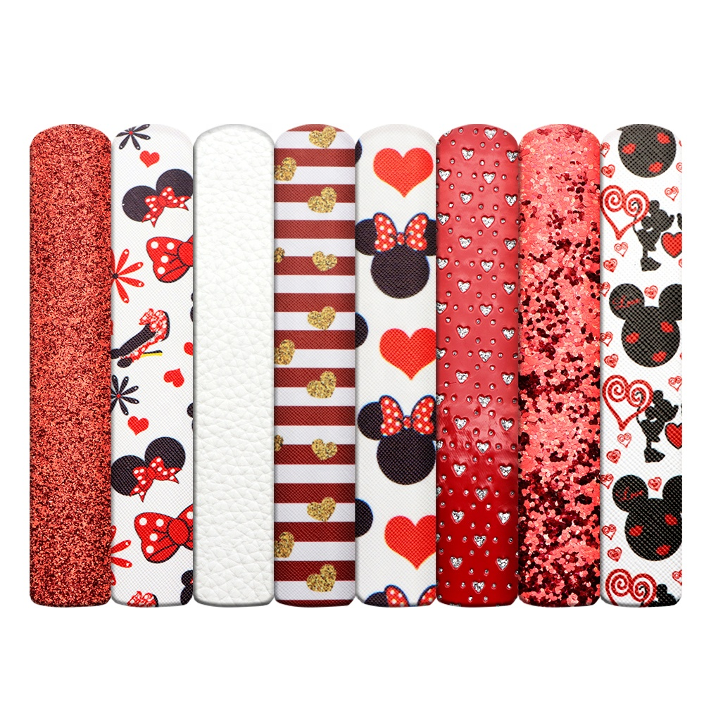 Valentines Leather Fabric,1 Set, See picture or customized