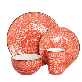 16 pcs New Cup KIts turkish porcelain dinner set/ daily use ceramic dinnerware / christmas porcelain dinner sets