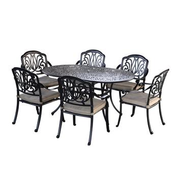 Oval Cast Aluminum Patio Furniture
