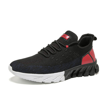 Explosive blade ventilated woven shoes casual sports fashion men's shoes