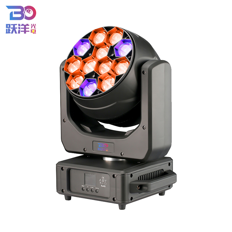Hoge helderheid led stage lamp met beautifulwash brede zoom beam effect12 * 40w 4in1 rgbw led moving head licht voor stage theater