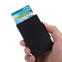Aluminium credit card wallet push side RFID blocking holder
