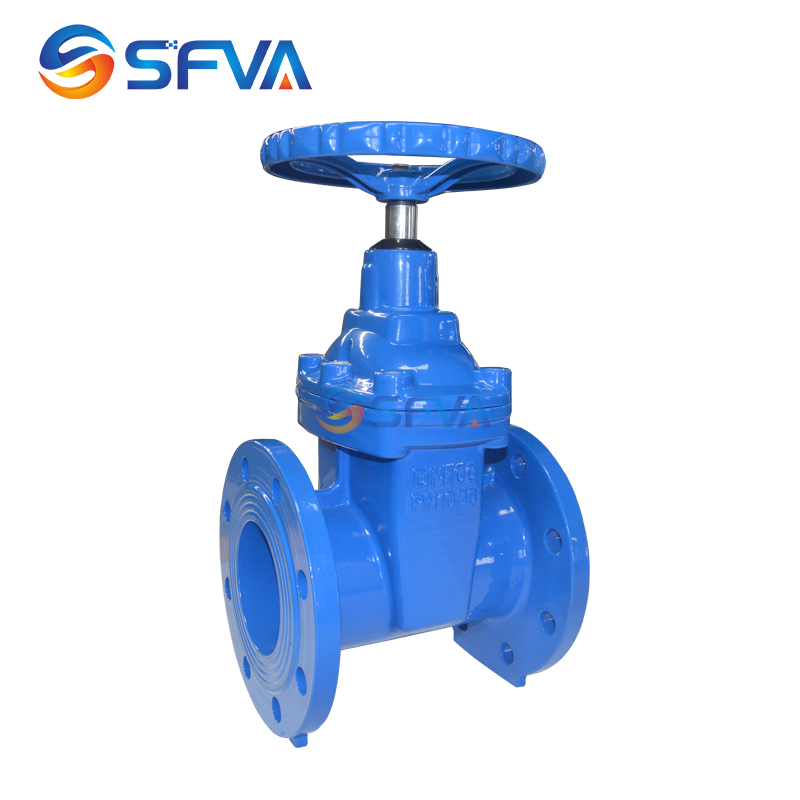 SFVA BRAND Good Quality DIN F4 GGG40 DN100 ductile iron resilient seat gate valve