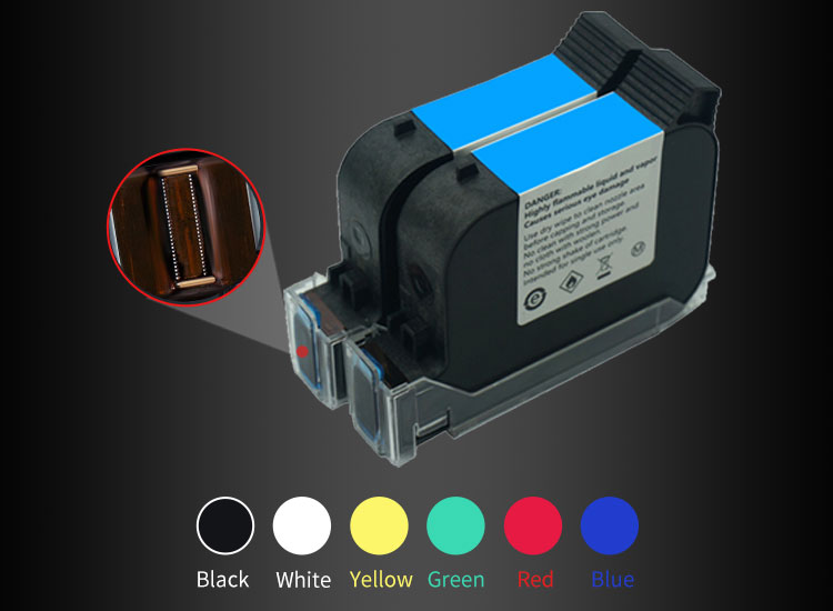 Quick Dry Cartridge Vervaldatum/QR Code Printing Machine Handheld Inkjet Printer voor Metalen PVC Plastic Kabel Doos