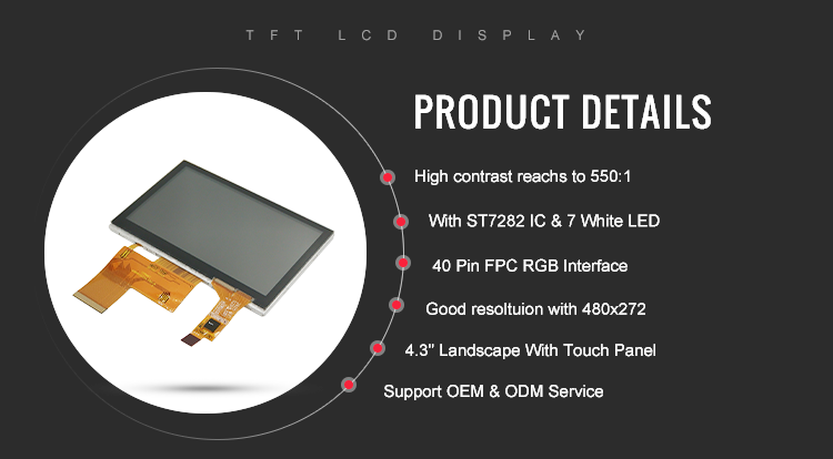 tft lcd touch module 4.3