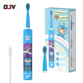 Wholesale 3 Mode Waterproof Music Kids Sonic Toothbrush Electric Toothbrush For Children With USB Charger