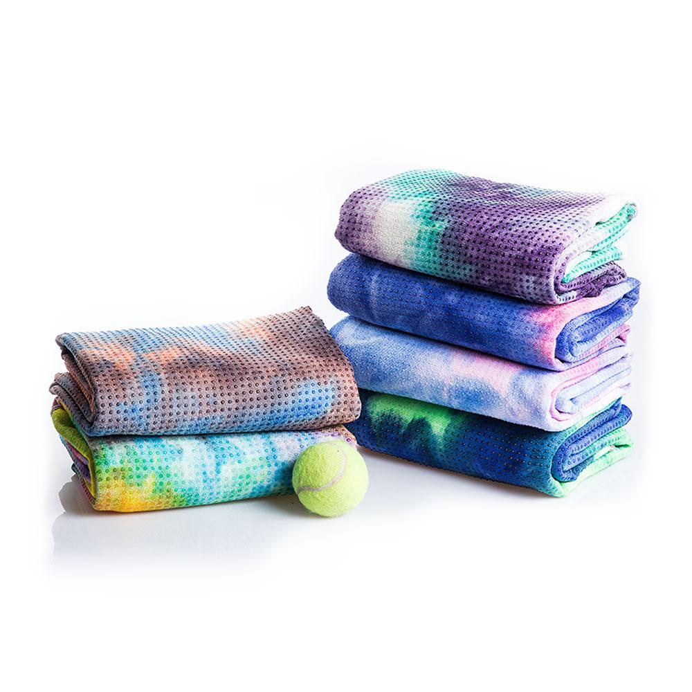 tie dye yoga towel,2 Pieces, Ready design or custom
