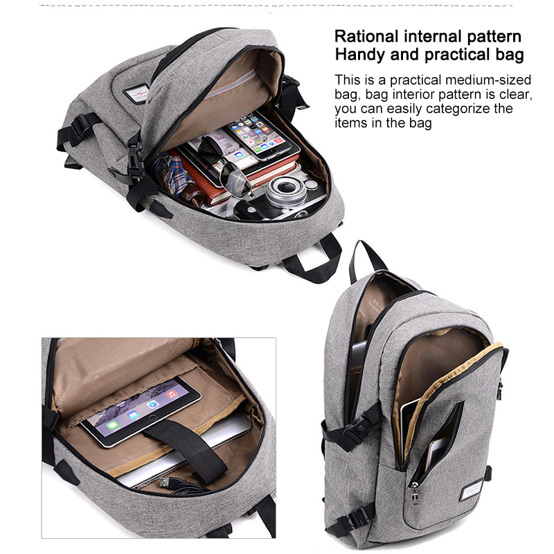 Osgoodway2 Popular Design Wholesale Mens Laptop Travel Backpack Bag USB Charging Backpack