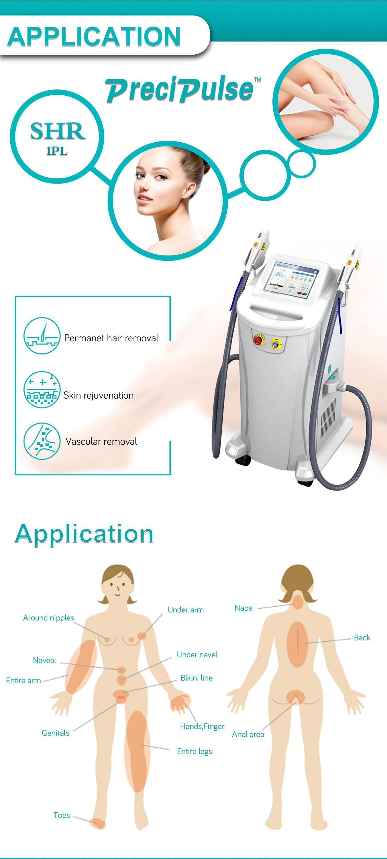 2020 TOP sale ipl laser skin light epilation machine ipl machine shr painless hair removal