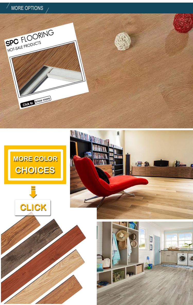 luxury vinyl tile waterproof 6mm oak SPC Unilin  rigid click lock Vinyl flooring planks