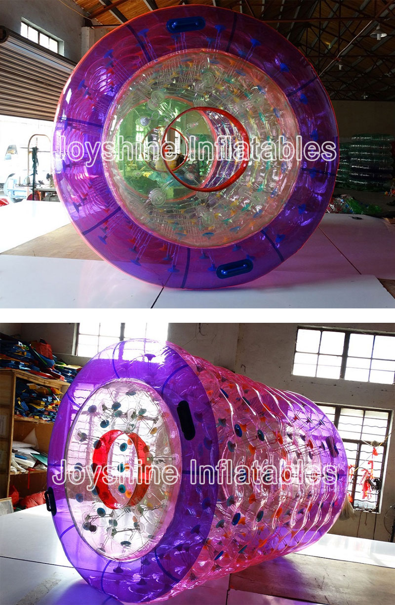 OEM Design Inflatable Water Zorbing Cylinder Tube LED Light Inflatable Wheel Ball Water Walking