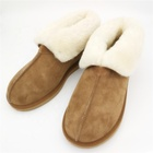 Slippers Sheepskin Sheepskin Sheepskin Slippers HQS-WS008 Luxury Custom Sheep Fur Slippers Winter Thermal Wool Slippers High Quality Genuine Sheepskin Slippers For Women