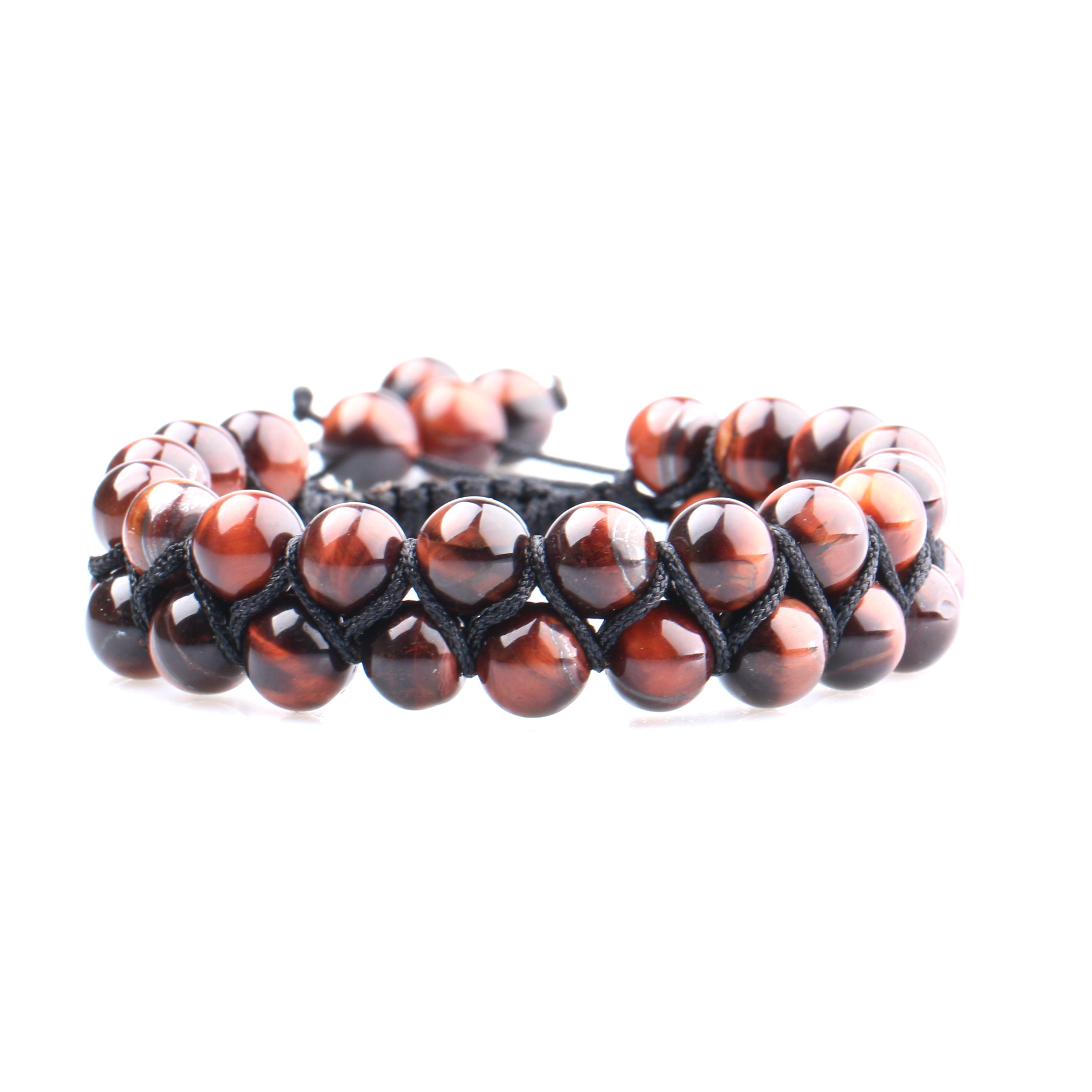 Amazing handmade stone bead <strong>bracelet</strong> factory price of 8mm <strong>red</strong> <strong>tiger</strong> <strong>eye</strong> stone bead <strong>bracelet</strong>