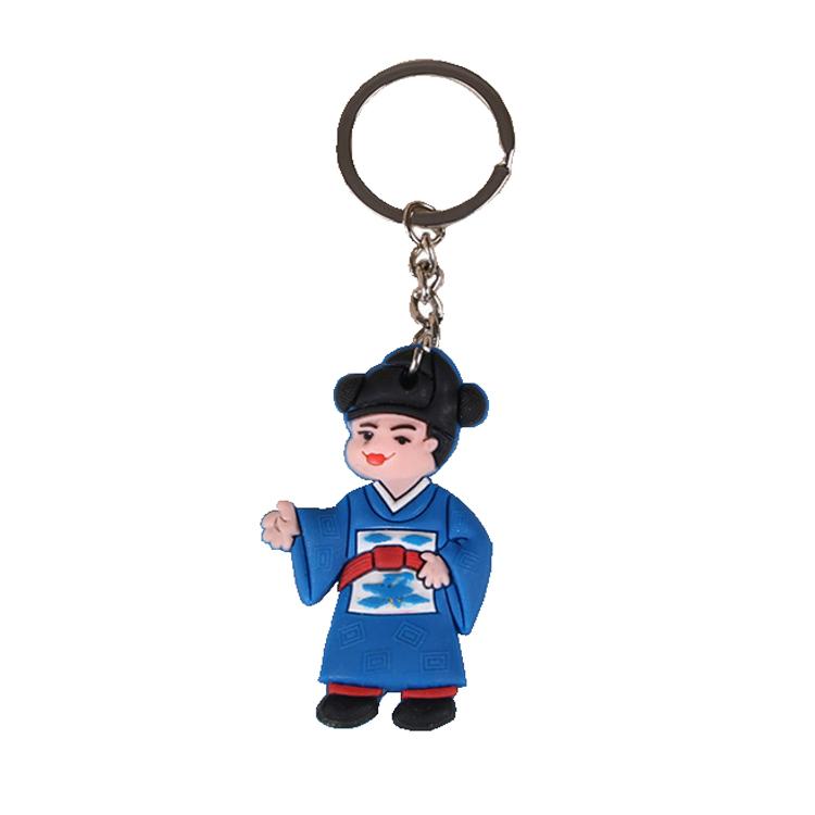 Souvenir pvc morbido anello della catena chiave, Regali Promozionali Di Natale pvc portachiavi logo personalizzato e design personalizzato portachiavi