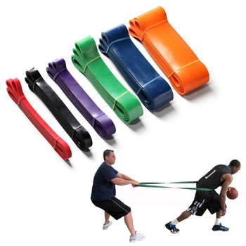 Fitness latex pull up assist band