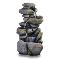 stonelike cascading waterfall fountain garden ornament