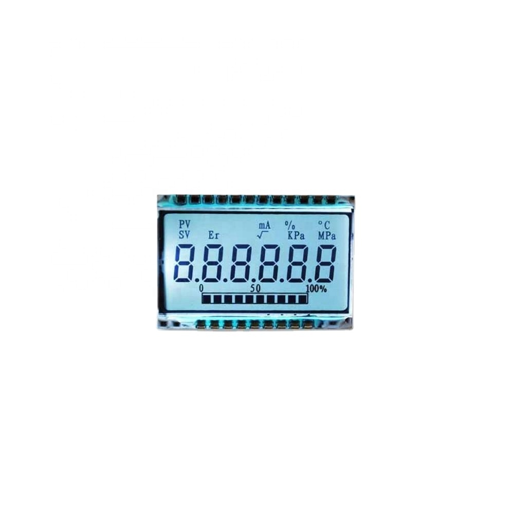 good display 6 digit panel custom segment lcd display with -40~80C wide temperature