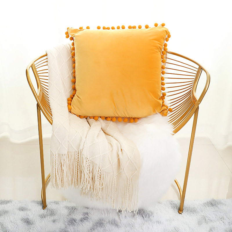 wholesale high quality and latest design velour cushion pillow cover