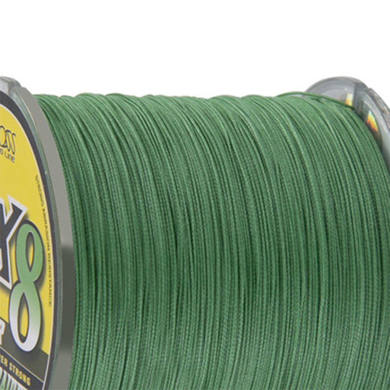 Factory direct selling wholesale 8-strand green <strong>PE</strong> 500m Polyethylene braided fishing line