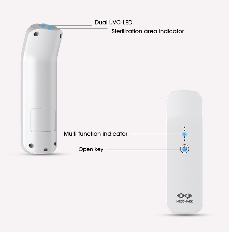 New launch mini handheld sterilizer for medical supplies and phone wireless disinfection device uv sanitize portable