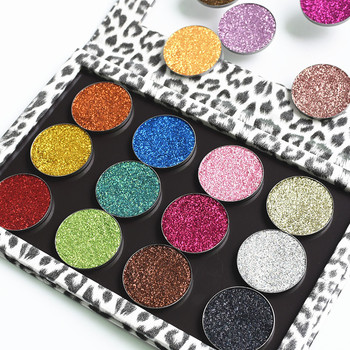Private label no brand high pigment single eyeshadow pressed glitter palette eyeshadow