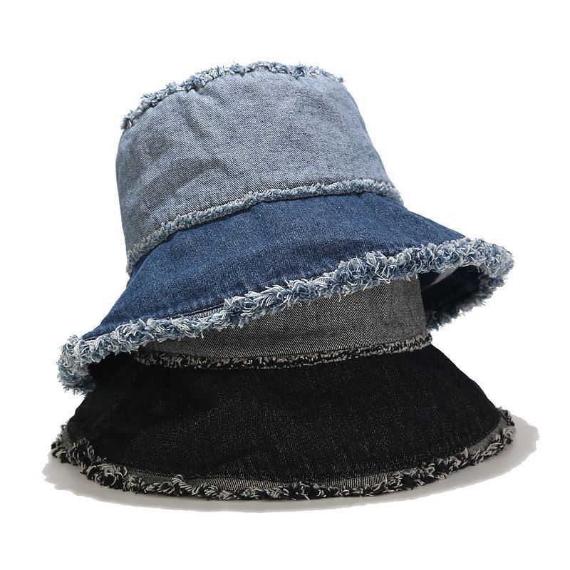 hot sale fisherman bucket hat Factory cheap denim washed bucket hats custom cool bucket hats for Wholesale
