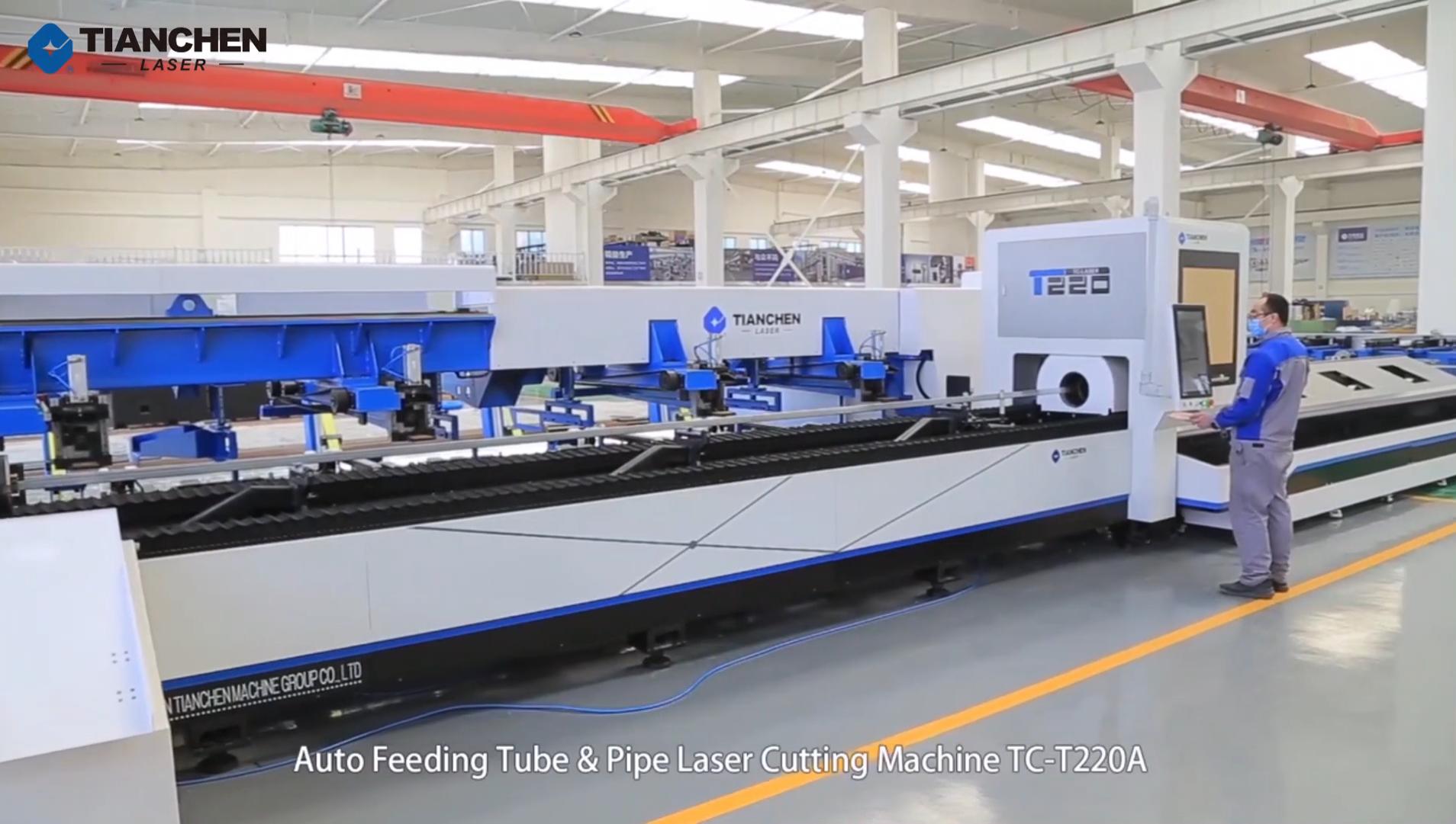 China CNC Profile and Pipe Metal Fiber Laser Cutting Machine Model T220