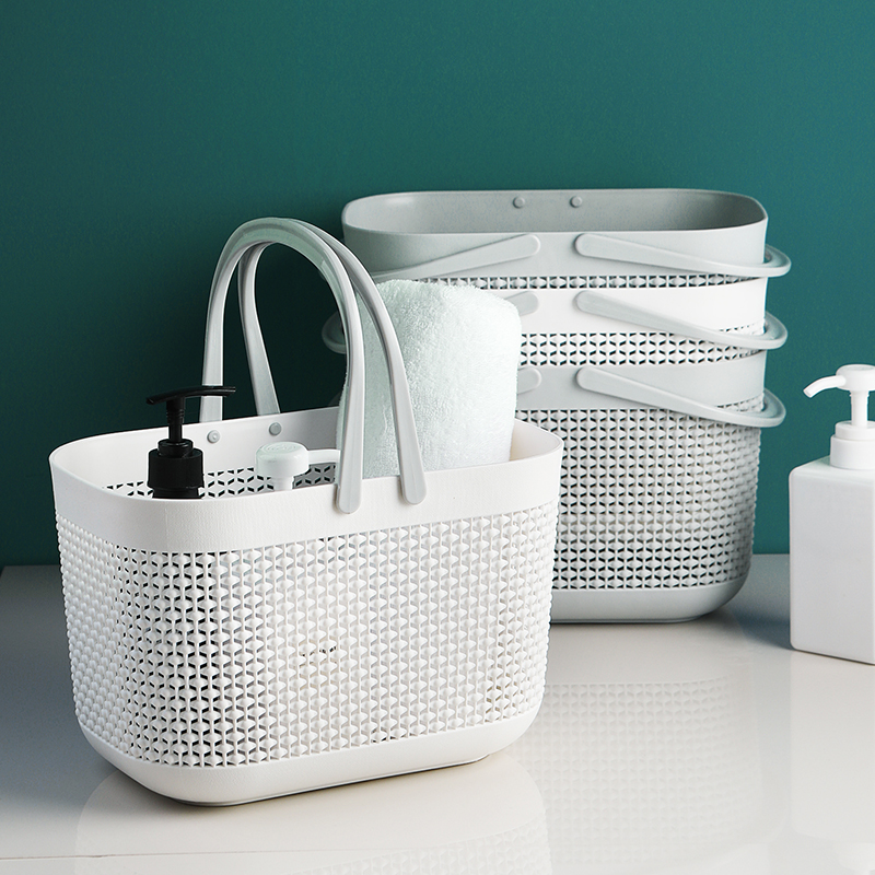 <strong>bathroom</strong> plastic <strong>storage</strong> <strong>basket</strong> for home