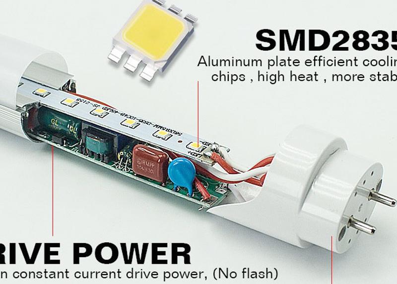 Sıcak satış LED tüp fabrika tüp işıklar öğe türü ve LED ışık kaynağı 2835 led tüp