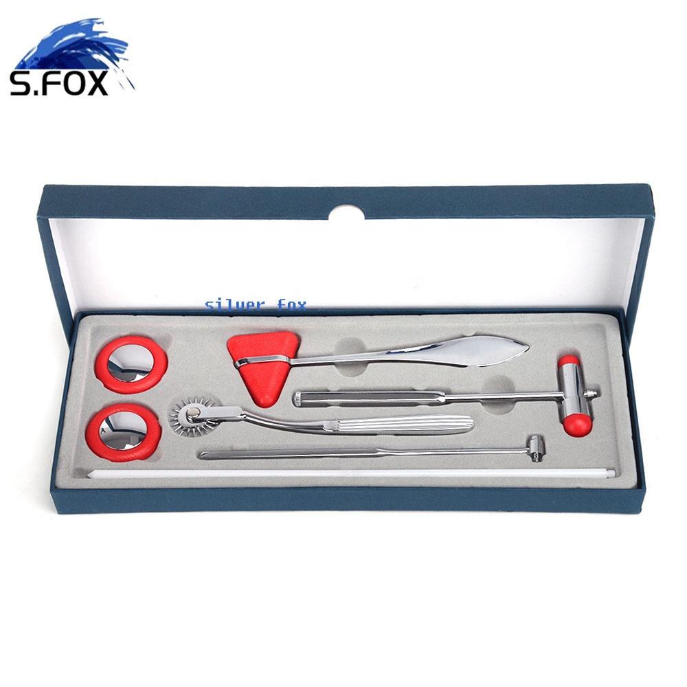 Stainless Steel Wartenberg Pinwheel Medical Reflex Percussion Hammer