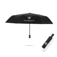 1X автоматический складной зонт для Maserati Quattroporte Ghibli Levante UV Солнцезащитный ветрозащитный водонепроницаемый автомобильные аксессуары(Китай)
