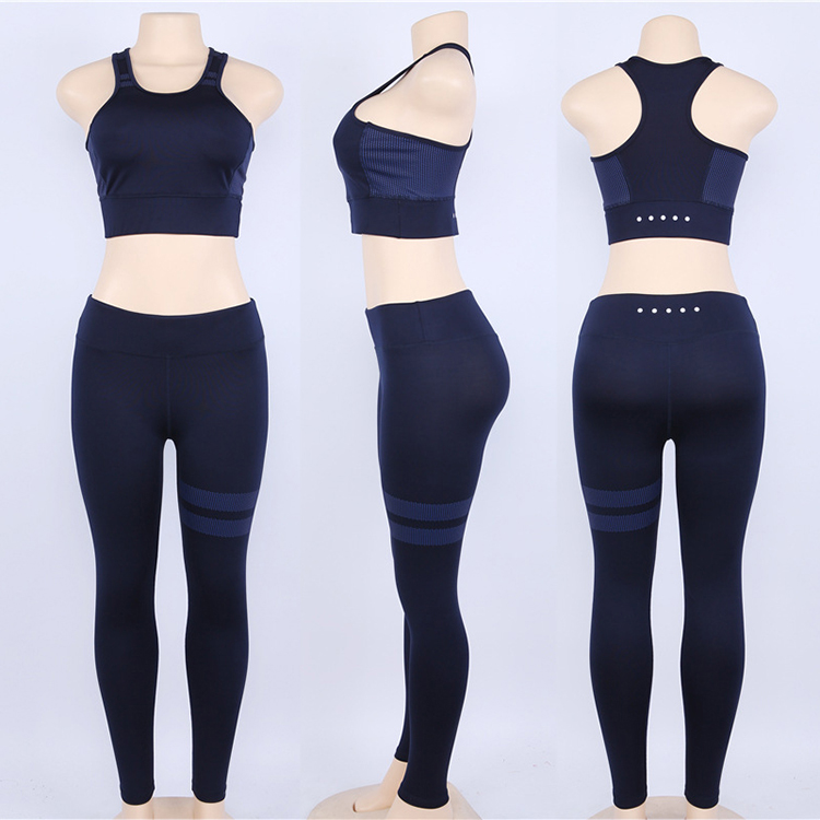 0051502 Fashion Sexy New Summer Tank Topm Tracksuit 2 Piece Set Woman Fitness Exercise Yoga Womens Two Piece Outfits