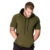 Custom short sleeve with zipper pocket hoodie t shirt for men