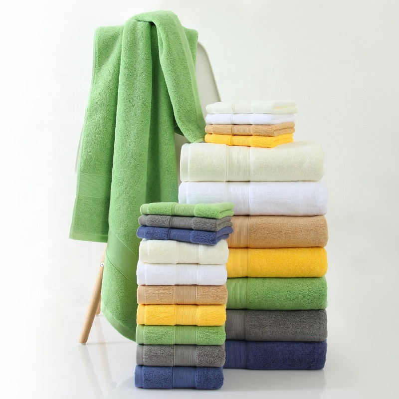 Supplier multi color custom hotel towels face 100 cotton