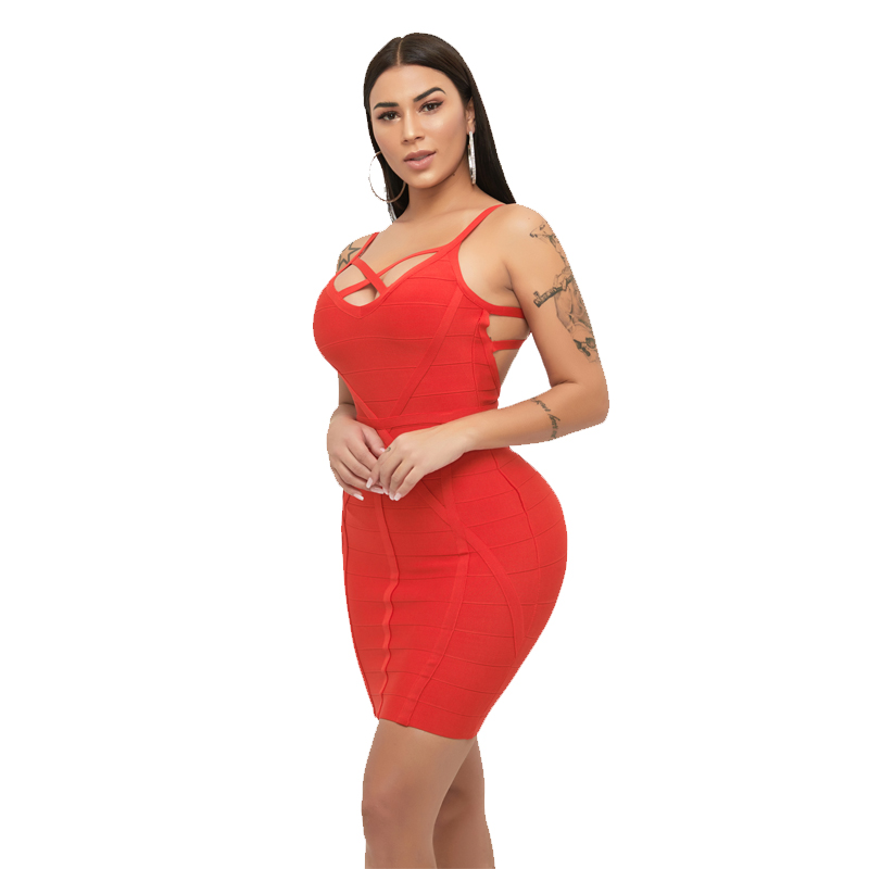 2019 apparel Casual bandage Dresses womens clothes Lady Hollow Out Sexy bodycon Long Sleeve Prom Party Dress vestidos wholesale