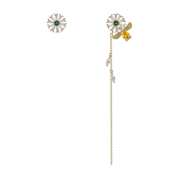 YM earring-288 xuping fashion wholesale korean style women personalized Synthetic CZ piercing earrings