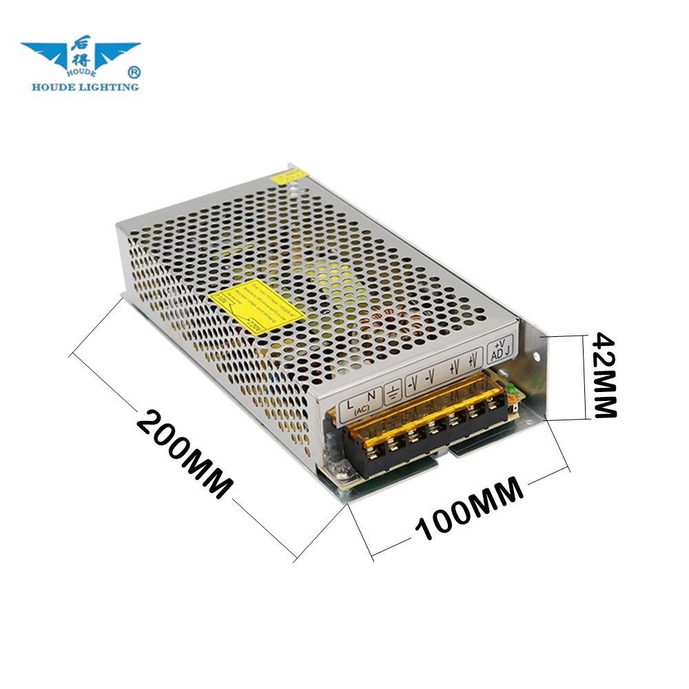 Input voltage 110V 220V AC output 5A 24V 120watt non-waterproof IP20 switching power transformer