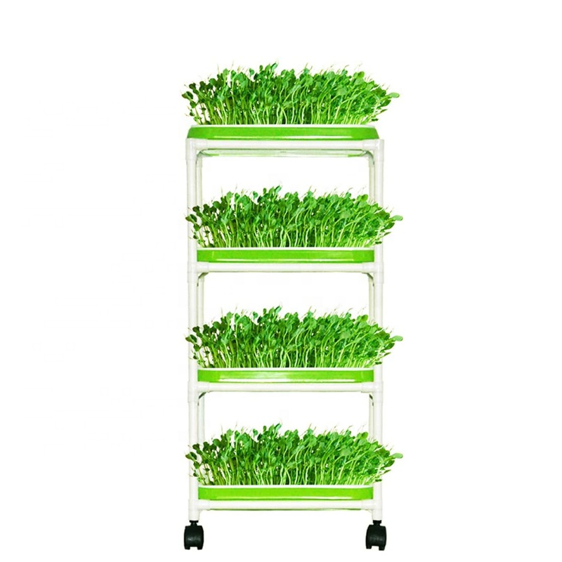 Seed prouter Trays with 4 Layers helf,1 Set, Green,white, customized
