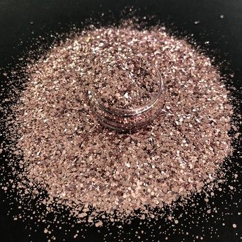 bulk high quality cosmetic rose gold color glitter powder