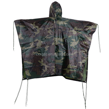 Xinxing military camouflage polyester poncho nylon poncho army outdoor camping adult rain poncho