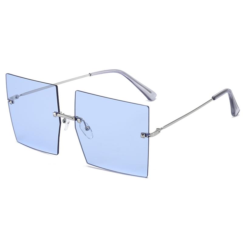 Superhot Eyewear A0410 Fashion Women Tinted Shades 2021 Designer Rimless Square Sunglasses