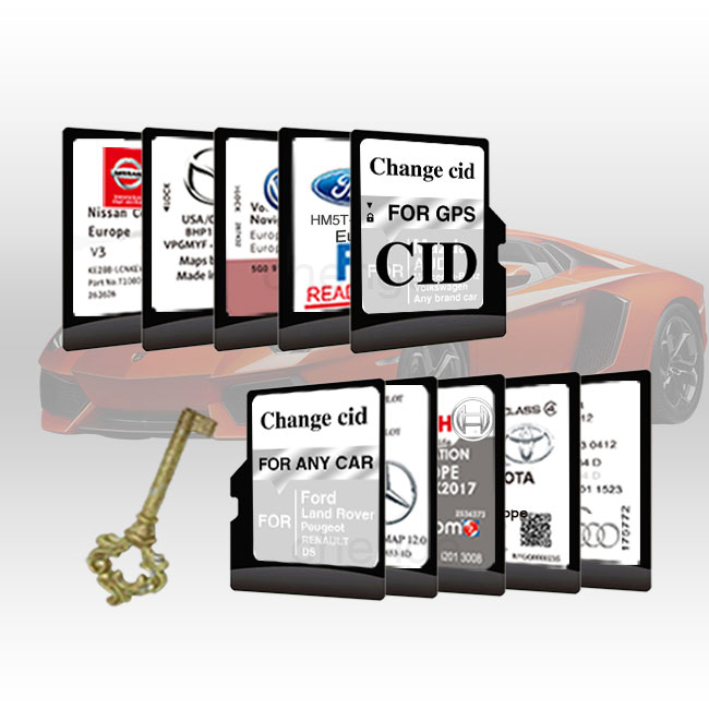 Customized navigation changeable CID SD card for Mazda
