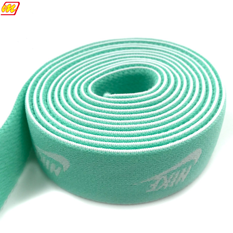 Custom Fashional Jacquard Elastic Tape For Underwear Garment, Custom Woven Jacquard Elastic Webbing With Polyester Elastic Band