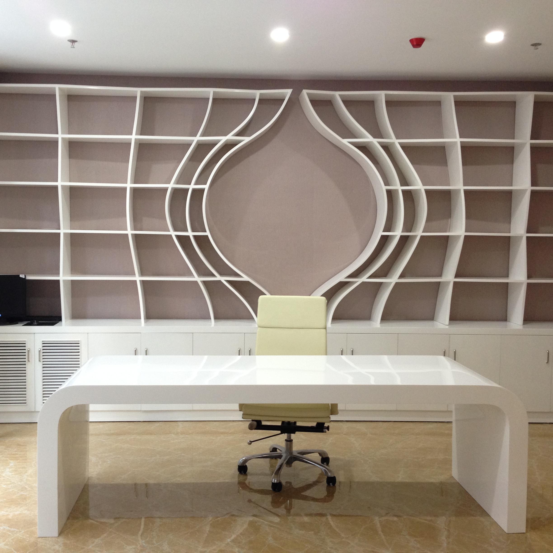 TW элегантного стиля изогнутые офисный стол, офисный стол, мебель для офиса
