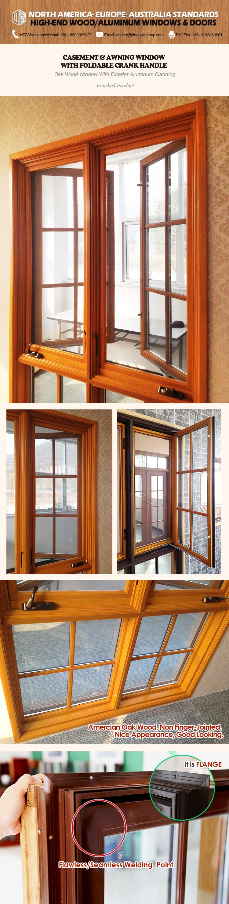 Wholesale price aluminium windows that look like timber
