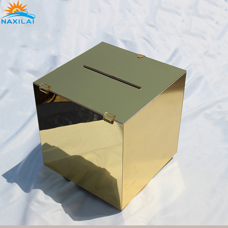 NAXILAI Customized Gift Factory Sale Of Mirrored Wishing Well Acrylic Box With Lid