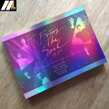 High-end customized printing luxury holographic post card, holographic poster
