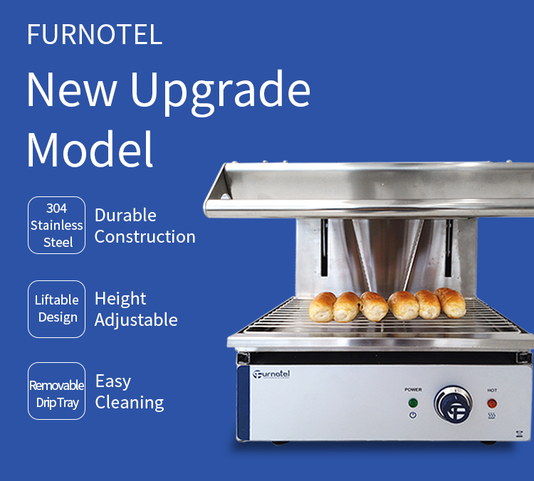 Furnotel Wall Mounted /Counter Top Electric Lift Salamander Compact Design for Small Kitchen