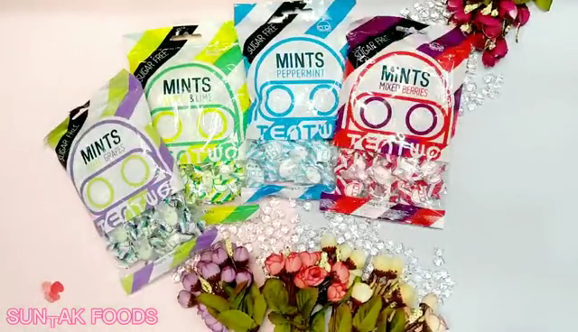 100g Sugar Free Mints Candy Xylitol Mints In Great Valued Bag Packaging