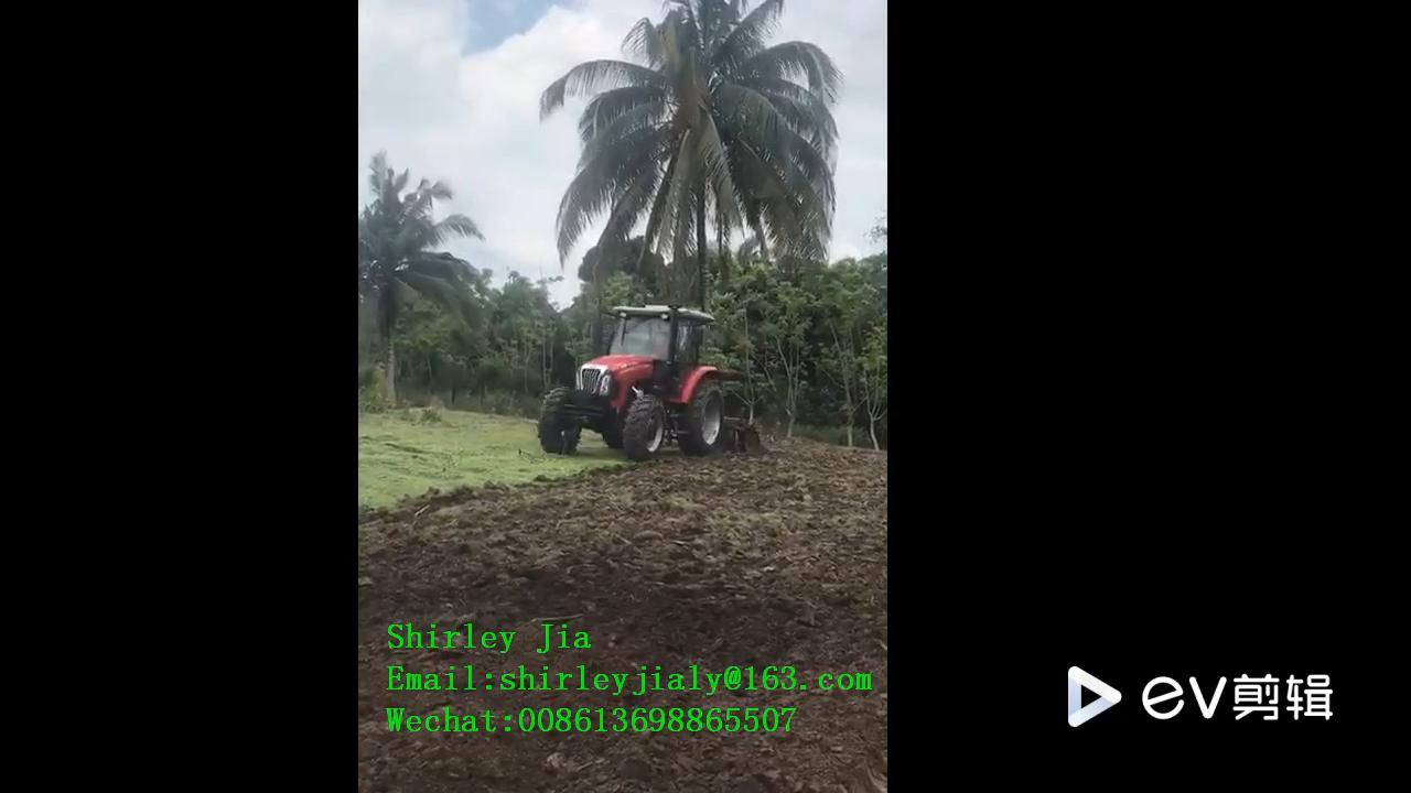 LUTONG404 40hp 4WD bánh xe-phong cách màu đỏ máy kéo cho nông nghiệp